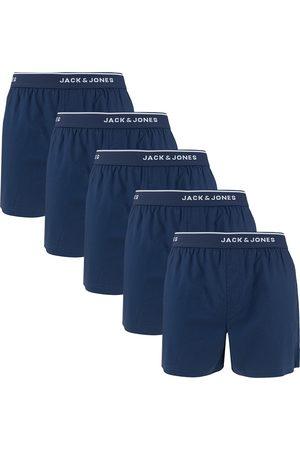 JACK & JONES Heren Boxershorts - Boxershorts mick 5-pack woven boxers