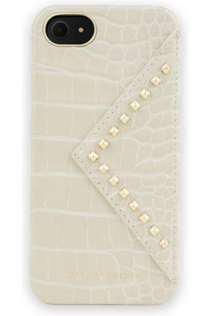 Ideal of sweden Dames Telefoon - Statement Case iPhone 8 Beatstuds Cream Croco