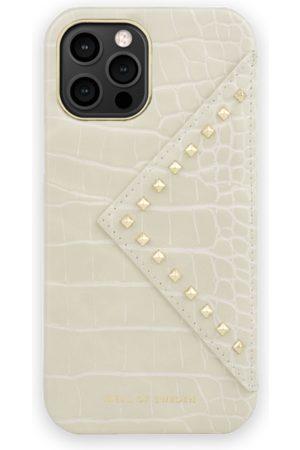 Ideal of sweden Telefoon - Statement Case iPhone 12 Pro Max Beatstuds Cream Croco