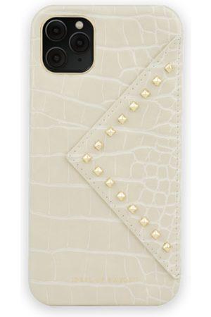 Ideal of sweden Telefoon - Statement Case iPhone 11 Pro Max Beatstuds Cream Croco