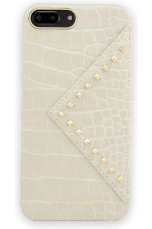 IDEAL OF SWEDEN Telefoon - Statement Case iPhone 8 Plus Beatstuds Cream Croco