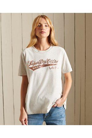 Superdry Workwear T-shirt met geschreven tekst en folieprint