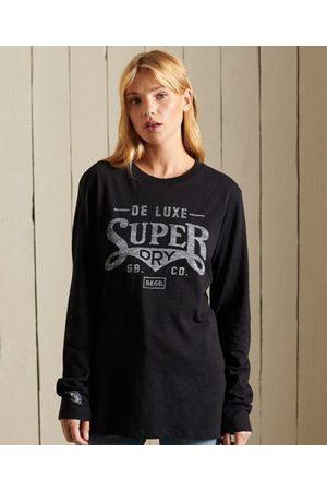 Superdry Black Out top met lange mouwen