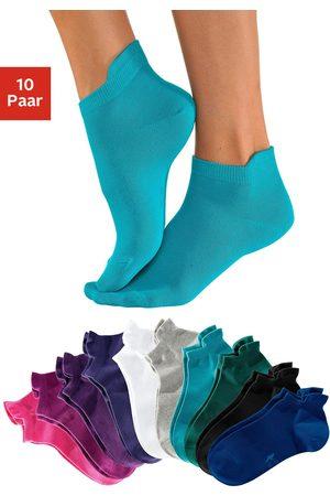 KangaROOS Dames Sokken & Kousen - Sneakersokken met verhoogde boord (10 paar)