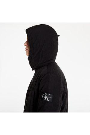 Calvin Klein Jeans Sherpa Lined Long Parka Ck Black