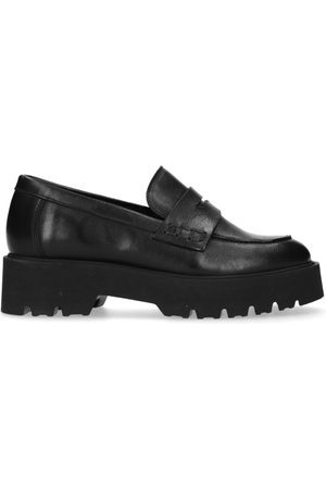 Manfield Dames Loafers - Leren loafers met plateauzool