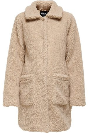ONLY Mama Sherpa Jas Dames Beige