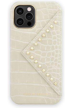 IDEAL OF SWEDEN Telefoon - Statement Case iPhone 12 Pro Beatstuds Cream Croco