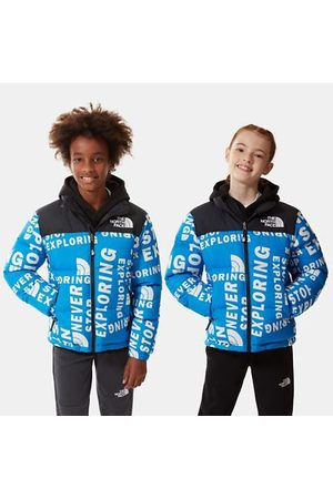The North Face The North Face Printed 1996 Retro Nuptse-jas Voor Kids Hrblutglntsprnt Größe L Dame
