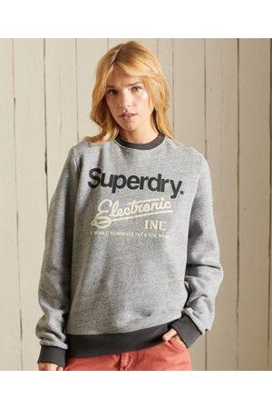 Superdry Core Logo Ringer-sweatshirt met ronde hals en contrasterende bie