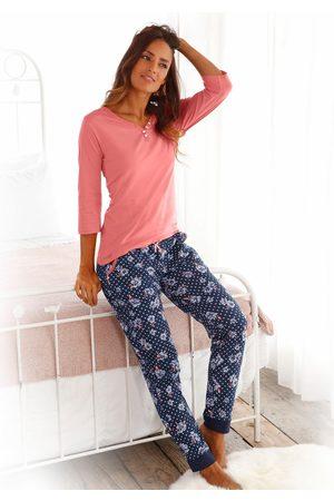 H.I.S Pyjama met 3/4-mouwen en knoopsluiting