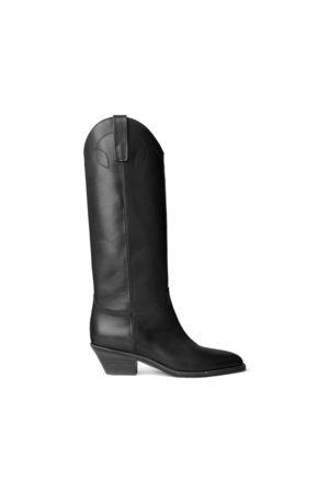 Ralph Lauren Jaelynne Burnished Calfskin Tall Boot