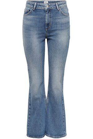 Only Onlhailey Life Hw Slit Flared Jeans Dames Blauw