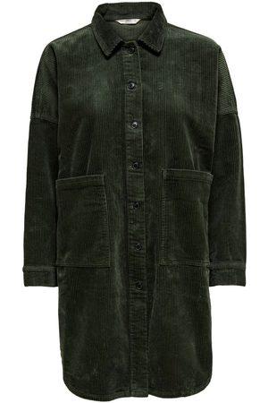 Only Corduroy Overhemd Dames Green