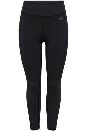 Only Solid Colored Training Tights Dames Zwart