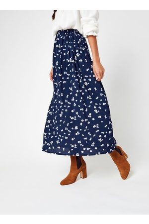 Knowledge Cotton Apparel ORCHID Lenzing™ EcoVero™ Flower Print Midi Skirt by