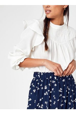 Knowledge Cotton Apparal Dames Blouses - LILY Ruffle Blouse - GOTS/Vegan by
