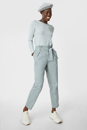 C&A Paperbagbroek-tapered fit