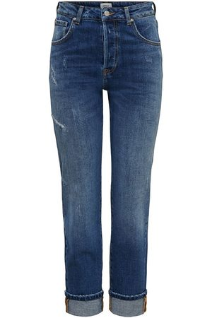 Only Dames Straight - Onlscarlett Life Hw Straight Fit Jeans Dames Blauw