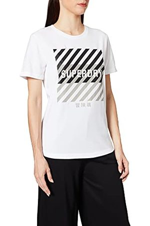 Superdry Dames Training Core Sport Tee T-Shirt - wit - L