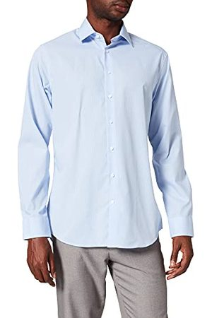 Seidensticker Zakelijk overhemd voor heren, Tailored Fit, strijkvrij, smal hemd met kent-kraag, lange mouwen, 100% katoen