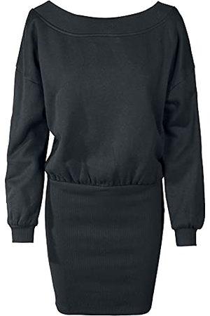 Urban classics Damesjurk met blote schouders, (Black 00007), XS