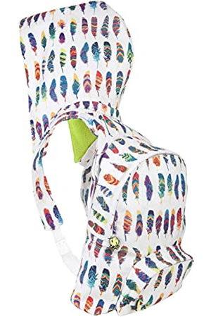 Morikukko Unisex-Adult Hooded Rugzak Gekleurde Veer Rugzak Multi kleuren (Gekleurde Veer)