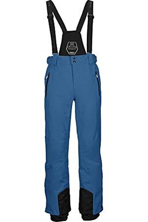 Killtec Heren functionele broek/skibroek met afneembare bandjes, randbescherming en sneeuwvanger - Enosh, hemelsblauw, L, 30920-000