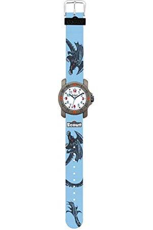 Scout Horloges jongens analoog kwarts horloge met textielband armband 1