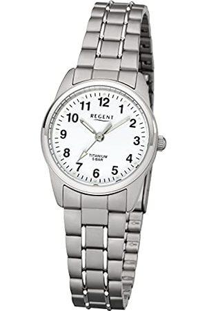 Regent Analoog kwartshorloge voor dames met titanium armband 12290450