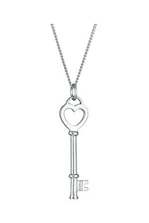 Elli Halsketting dames sleutel hart liefdessleutel in 925 sterling , 450, facetgeslepen.