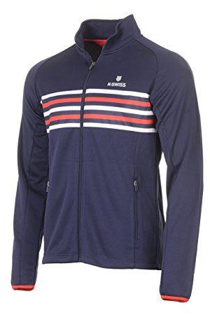 K-Swiss Heren Schoenen - Heritage Tracksuit tennisjas, voor heren, marineblauw, XL