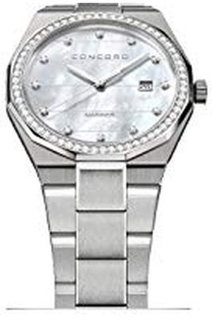 CONCORD Heren Analoog Klassiek Quartz Horloge met RVS Band 320264