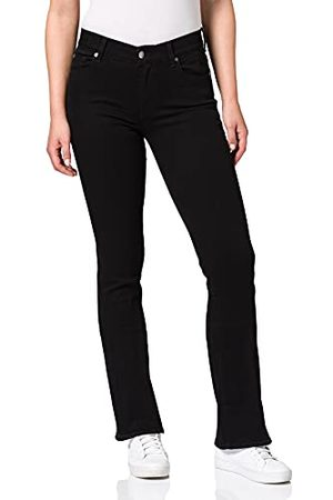 7 for all Mankind Dames Bootcut Rinsed Black Jeans