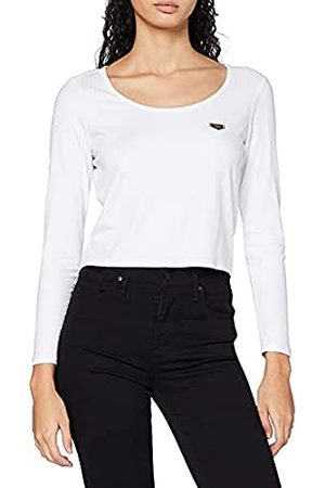 Gianni Kavanagh White Core Long Sleeve Ribbed Tee T-shirt voor dames