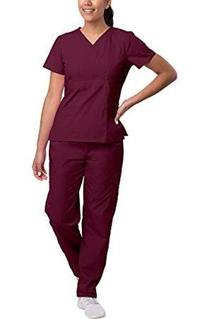 Sivvan Vrouwen S8401brg4x Medical Scrubs, Bourgondië, 4XL UK