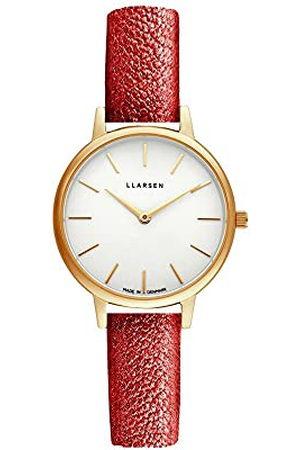 LLARSEN Dames analoog kwarts horloge met lederen armband 146GWG3-GOPERA12