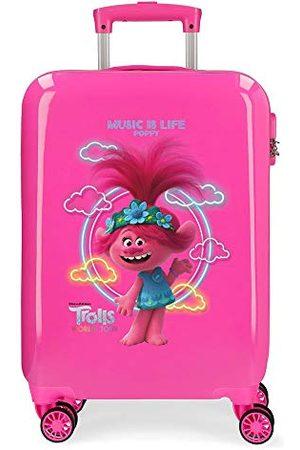 TROLLS Music is Life cabinekoffer 38 x 55 x 20 cm harde schaal ABS combinatieslot 34 L 2,6 kg 4 dubbele wielen handbagage