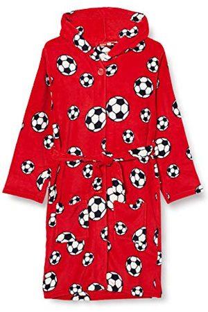 Playshoes Knuffelzachte fleece ochtendjas voetbal badjas, (8), 158/164 cm