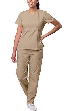 Sivvan Vrouwen S8401kki4x medische scrubs, kaki, 4XL UK