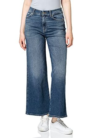7 for all Mankind Dames Lotta Cropped Luxe Vintage Pacific Grove Flared Jeans