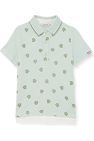 IKKS Poloshirt met luipaardpatroon voor baby's, jongens, laguneblauw