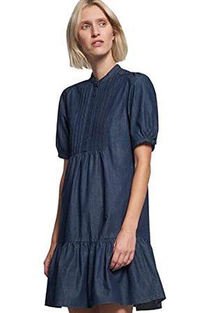 Seidensticker Moderne denim effen jurk met korte mouwen voor dames.