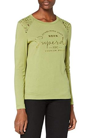 Superdry Dames NYC Lace Shoulder Graphic Top T-shirt