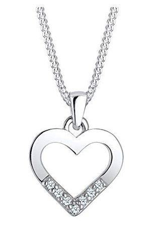 DIAMORE Dames halsketting hart cut-out hanger liefde elegant met diamant (0,07 ct.) in 925 sterling