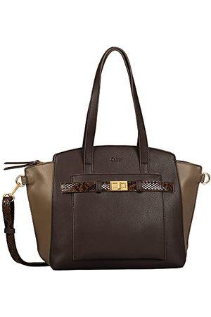 Gabor Dames Janna Zip Shopper L, L, Mixed Brown, Large