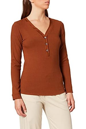 Scotch&Soda Dames Classic Grandad With Diepe V-hals in Ecovero Blend Henley Shirt