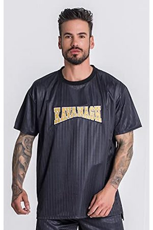 Gianni Kavanagh Black Major League Oversized T-shirt voor heren
