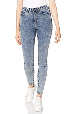 Urban classics Dames Dames High Waist Skinny Broek Jeans, Light Skyblue Acid Washed, 28W x 30L