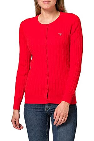 GANT Dames Stretch Cotton Cable Cardigan Pullover